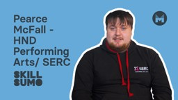 SERC: Pearce McFall in HND Performing Arts